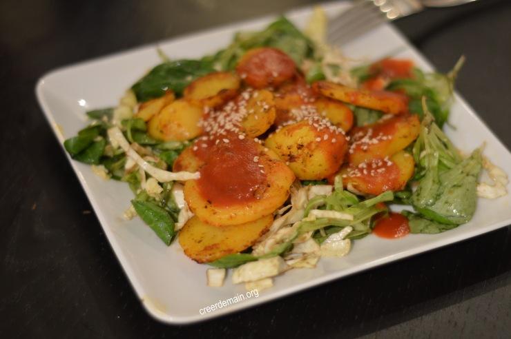 pommes de terres sautées et salade de chou.jpg